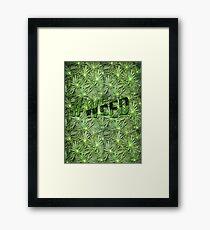#WEED Framed Print