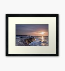 Lyme Regis  The Cobb  First Light Framed Print