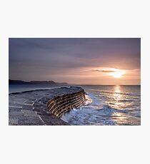 Lyme Regis  The Cobb  First Light Photographic Print