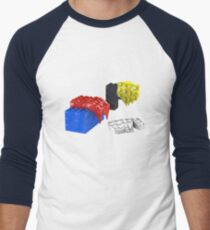 Dali Toy Bricks Men's Baseball ¾ T-Shirt