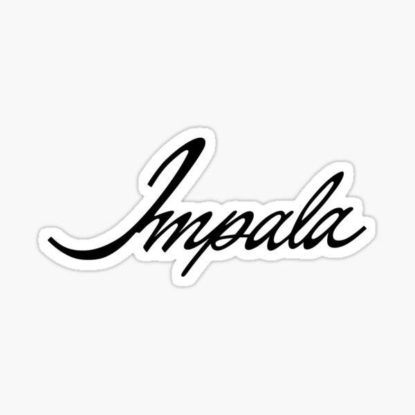 Chevrolet Impala Script Sticker