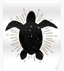 Vintage Sea Turtle Poster