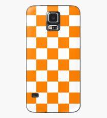 Orange und Weiß Hülle & Skin für Samsung Galaxy