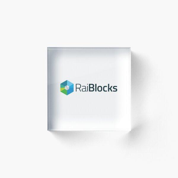 RaiBlocks Acrylic Block