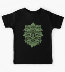 TRADITIONAL CELTIC WICCA PAGAN GREENMAN T-SHIRT AND MERCHANDISE Kids Tee