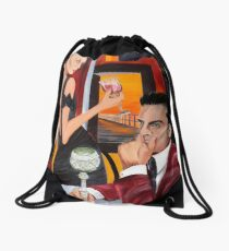 Couple Therapy Drawstring Bag