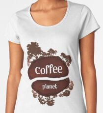 Welcome to the Coffee planet - I love Coffee Women's Premium T-Shirt