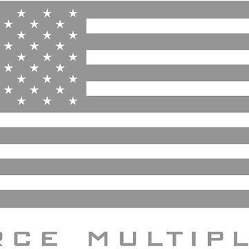 FORCE MULTIPLIER - AMERICAN FLAG (GREY) by zingarostudios