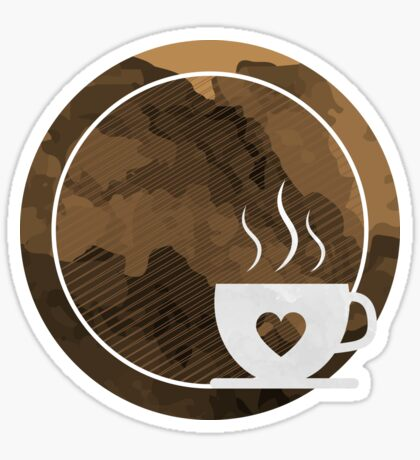Coffee brings the passion - I love Coffee Sticker