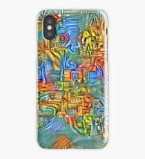 Abstract vandalism iPhone Case/Skin