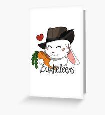 Burgundy Bunny Greeting Card