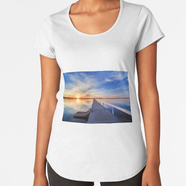 Long Jetty sunset Premium Scoop T-Shirt