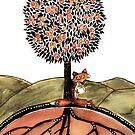 Orange fox by Jenny Wood