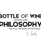 bottle of wine, philosophy - louis pasteur by razvandrc