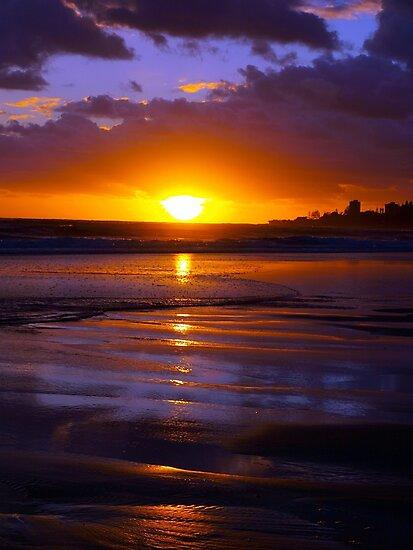 Bilinga Beach Sunrise 1 by W E NIXON  PHOTOGRAPHY
