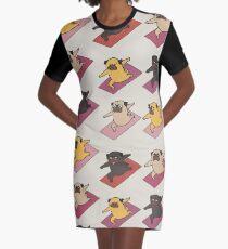 Pugs Warrior  Graphic T-Shirt Dress