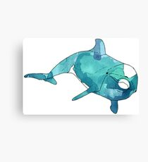 Cheeky Swift Turquoise Dolphin Canvas Print