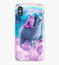 Rainbow Llama - Cat Llama iPhone Case/Skin