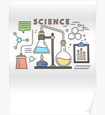 Science Vector Icons Elements Poster