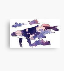 Majestic Purple Sky Whale Canvas Print