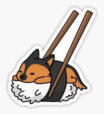 Funny Sushi German Shepherd Sticker