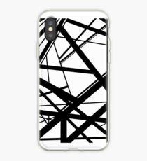 Frankenstein Pattern (Black & White) iPhone Case