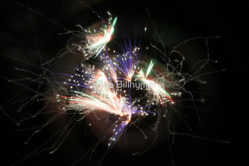 Fireworks with Smoke Trails by Tina Billhymer