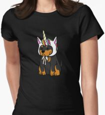 Funny Unicorn Rottweiler Women's Fitted T-Shirt