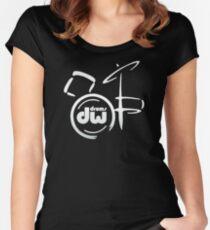 TOP TRENDING  UD574 Dw Drum Customs Music Trending Women's Fitted Scoop T-Shirt