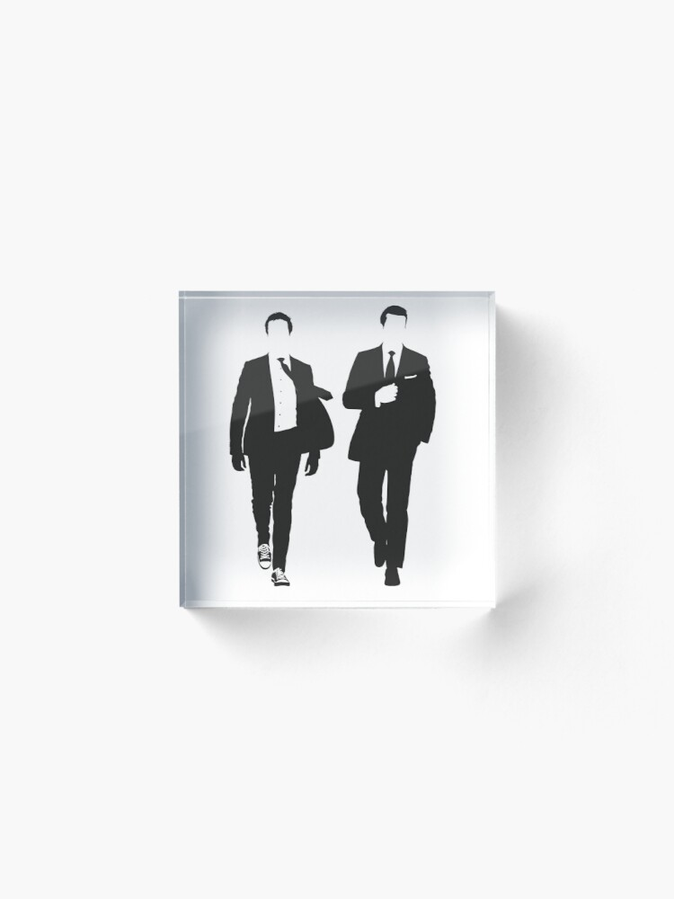 Alternate view of Suits Acrylic Block