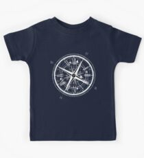 Time Travel T-Shirt Compass Travelers Pi Math Physics Space Science  Kids Tee