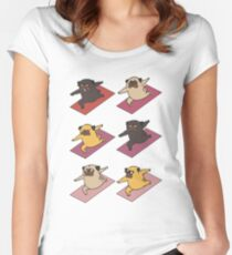 Pugs Warrior  Women's Fitted Scoop T-Shirt