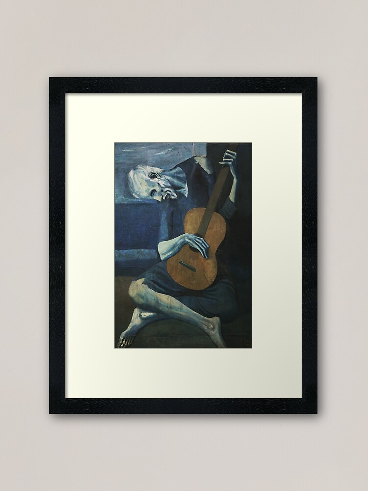 Alternate view of Old Guitarist by Picasso Framed Art Print