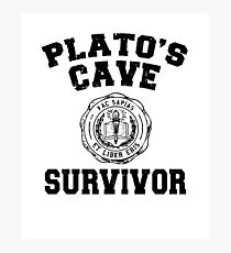 Platos Cave Gift - Plato Greek Philosophy Shirts and Gifts with Quote for Men and Women Photographic Print