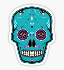 Sugar Skull Blue Sticker