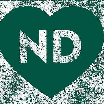 Used I Love North Dakota State by Chocodole