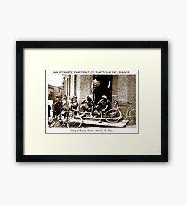 TOUR DE FRANKREICH; Weinlese, die einen Bruchdruck macht Gerahmtes Wandbild
