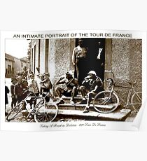 TOUR DE FRANCE; Vintage Taking A Break Print Poster