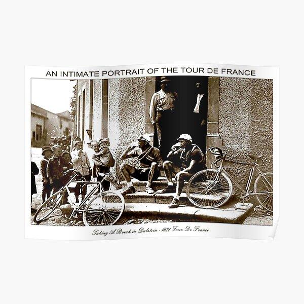 TOUR DE FRANCE; Vintage prenant une pause impression Poster