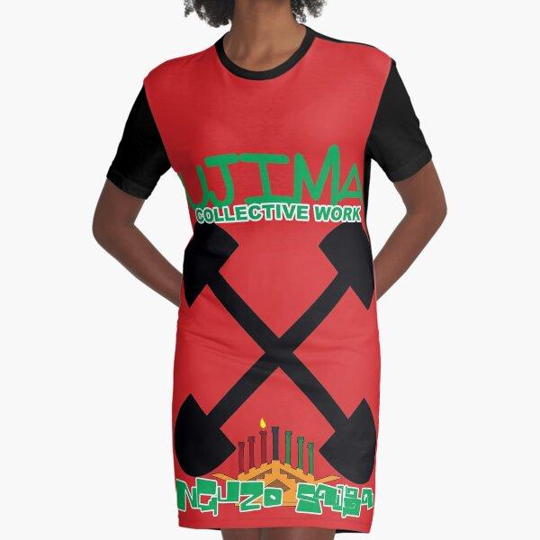 Hip Hop Ujima Graphic T-Shirt Dress