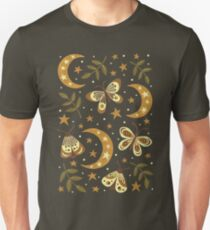 Moons and moths Unisex T-Shirt