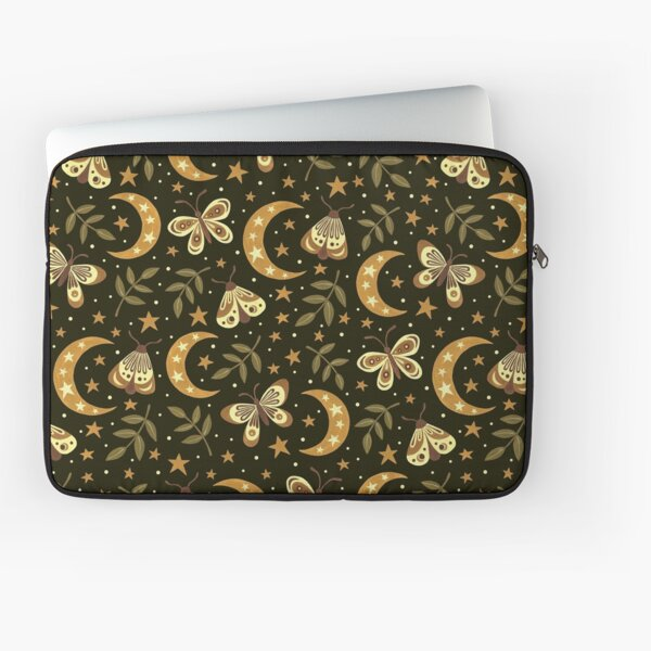 Moons and moths Laptop Sleeve