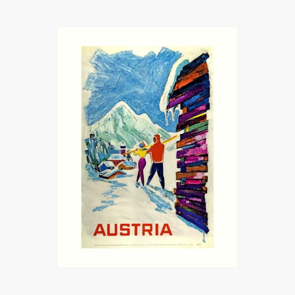 Austria, Ski Poster Art Print
