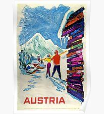 Österreich, Ski Poster Poster