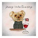 Happy Valentines Day - Puppy love by cardwellandink