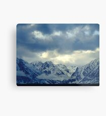 Grand Teton Winter Cloud Metal Print