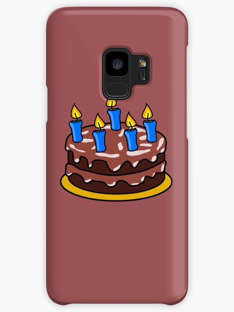 Chocolate Birthday Cake Emoji Cases Skins For Samsung Galaxy By
