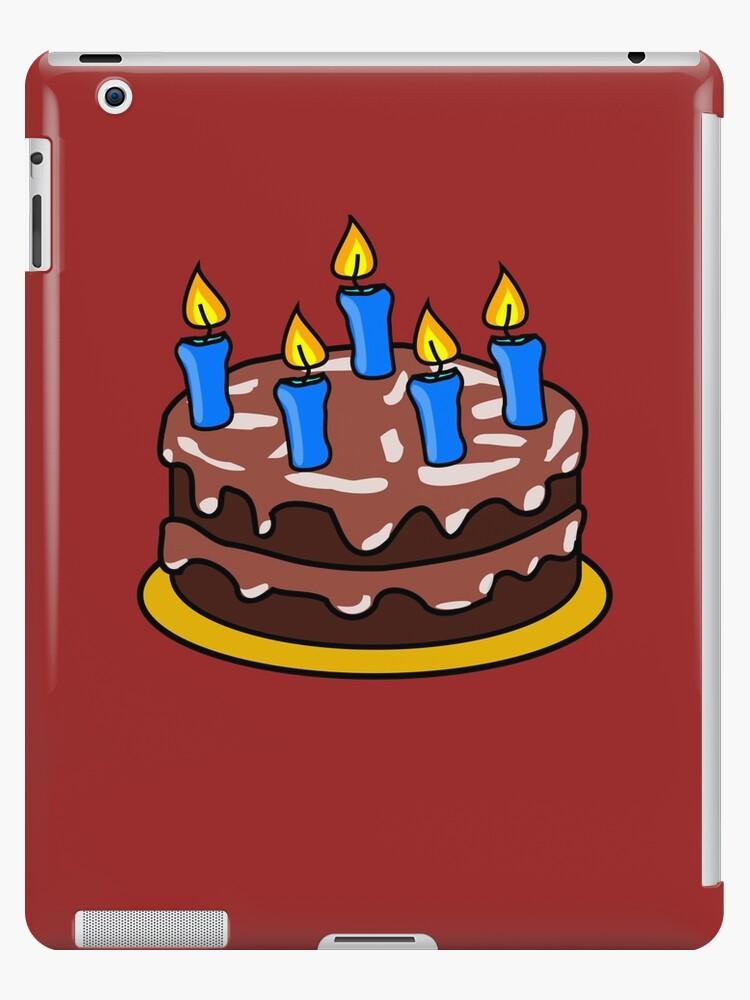 Chocolate Birthday Cake Emoji Ipad Cases Skins By Printpress
