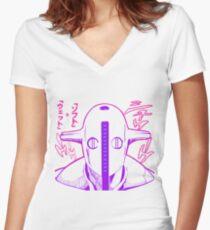 Camiseta entallada de cuello en V Suave y mojado
