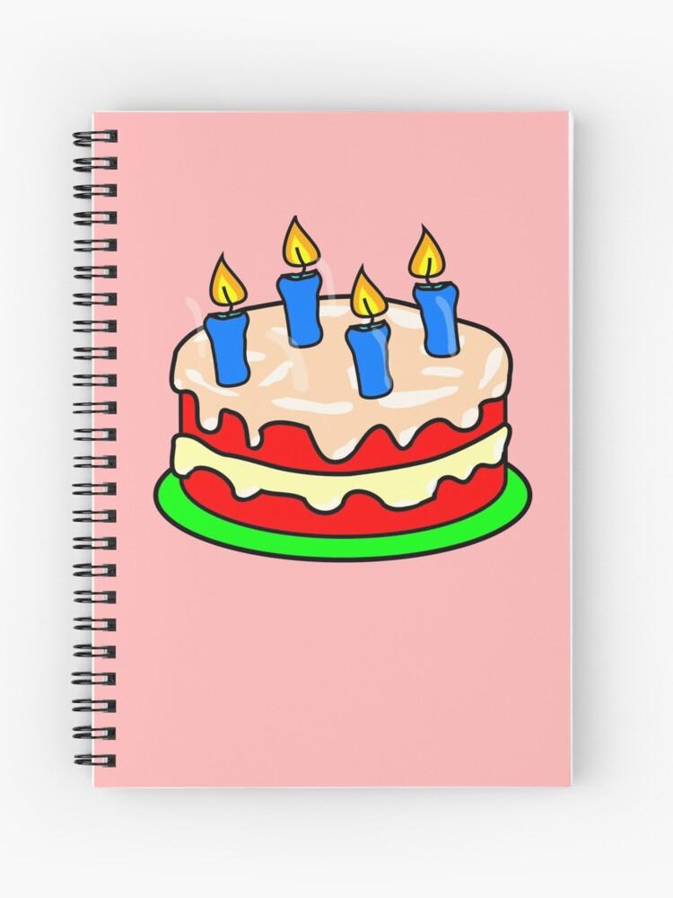 Strawberry Birthday Cake Emoji Spiralblock